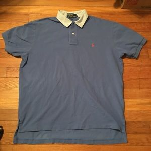 VINTAGE POLO RALPH LAUREN SEERSUCKER COLLAR POLO